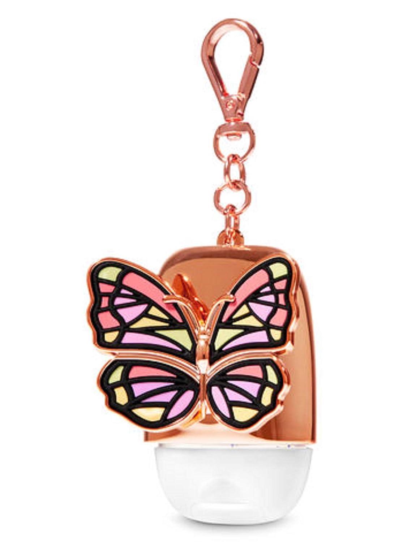 Amazon.com: Llavero con diseño de mariposa de oro rosa para ...
