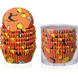 150 Pieces Halloween Cupcake Liners Halloween Cupcake Toppers Halloween Baking,Cups Paper Cupcake Wrappers Muffin Wrappers Ba