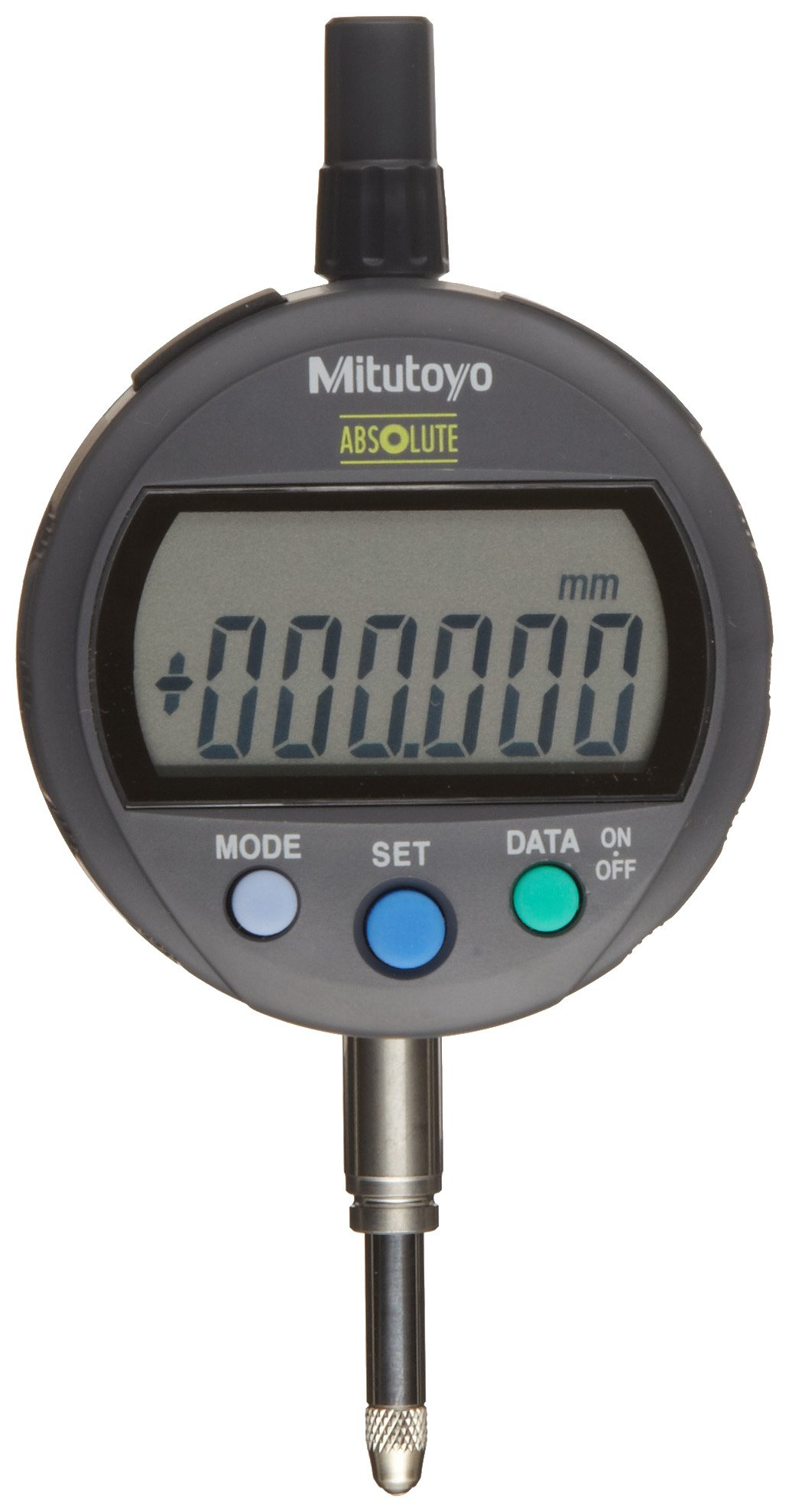 Mitutoyo 543-390 Absolute LCD Digimatic Indicator ID-C, Standard Type, M2.5X0.45 Thread, 8mm Stem Dia., Lug Back, 0-12.7mm Range, 0.001mm Graduation, +/-0.003mm Accuracy