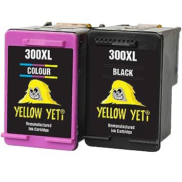 Yellow Yeti Remanufacturados 300XL 300 XL Cartuchos de Tinta Negro ...