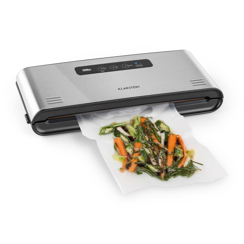 Klarstein FoodLocker Pro • apparecchio sottovuoto • 12 litri/min • linea saldatura 3 mm • alimenti • sous vide • modalitá automatica • incl. 10 sacchi a vuoto • acciaio inox • argento