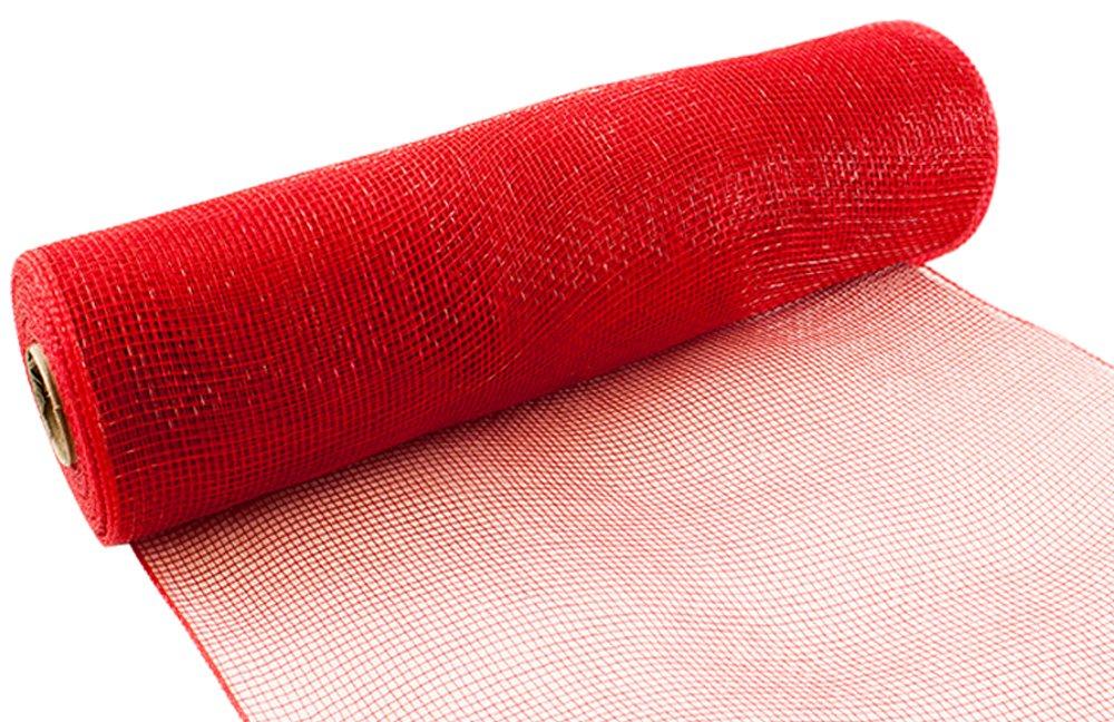 Eleganza No. 16Deco mesh, rosso, 25cm x 9.1m Oaktree 639409