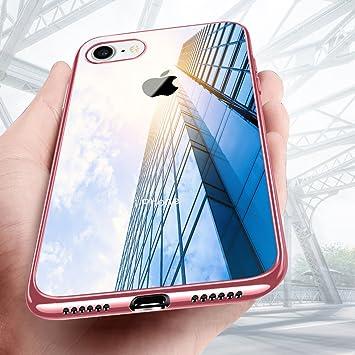 Funda iPhone 8, Mture iPhone 8 Carcasa Cover Silicona TPU Protectora Ultra Fina Caso Anti-Rasguño Funda Case Para Apple iPhone 8 - Rosa