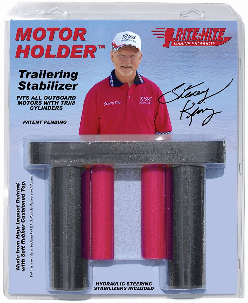 Rite Hite Motor Holder - Stabilizes Outboard Motors with Two Trim Cylinders Effectively While Trailoring Your Boat by Rite Hite