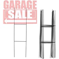 Juvale 12-Pack H Frame Wire Stakes for Garage Yard Sale and Real Estate Signs, 6 x 24 Inches