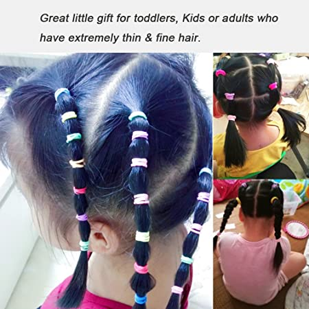 Amazon Com Elastic Hair Bands Ties Girl Small Size Rubber Band