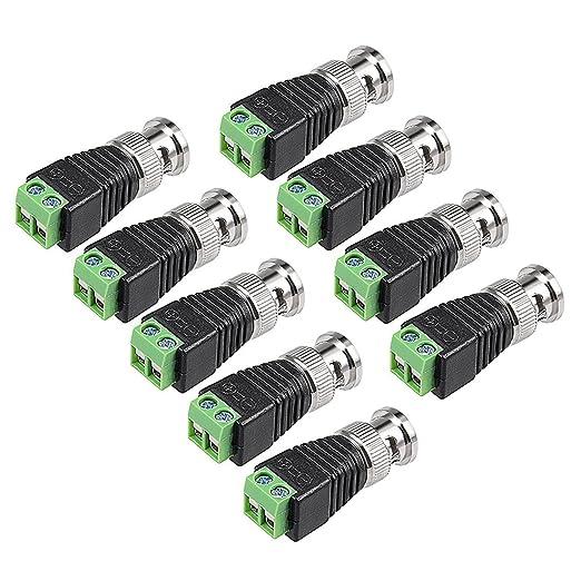 DealMux BNC macho a CAT5 conectores coaxiales con terminal de ...