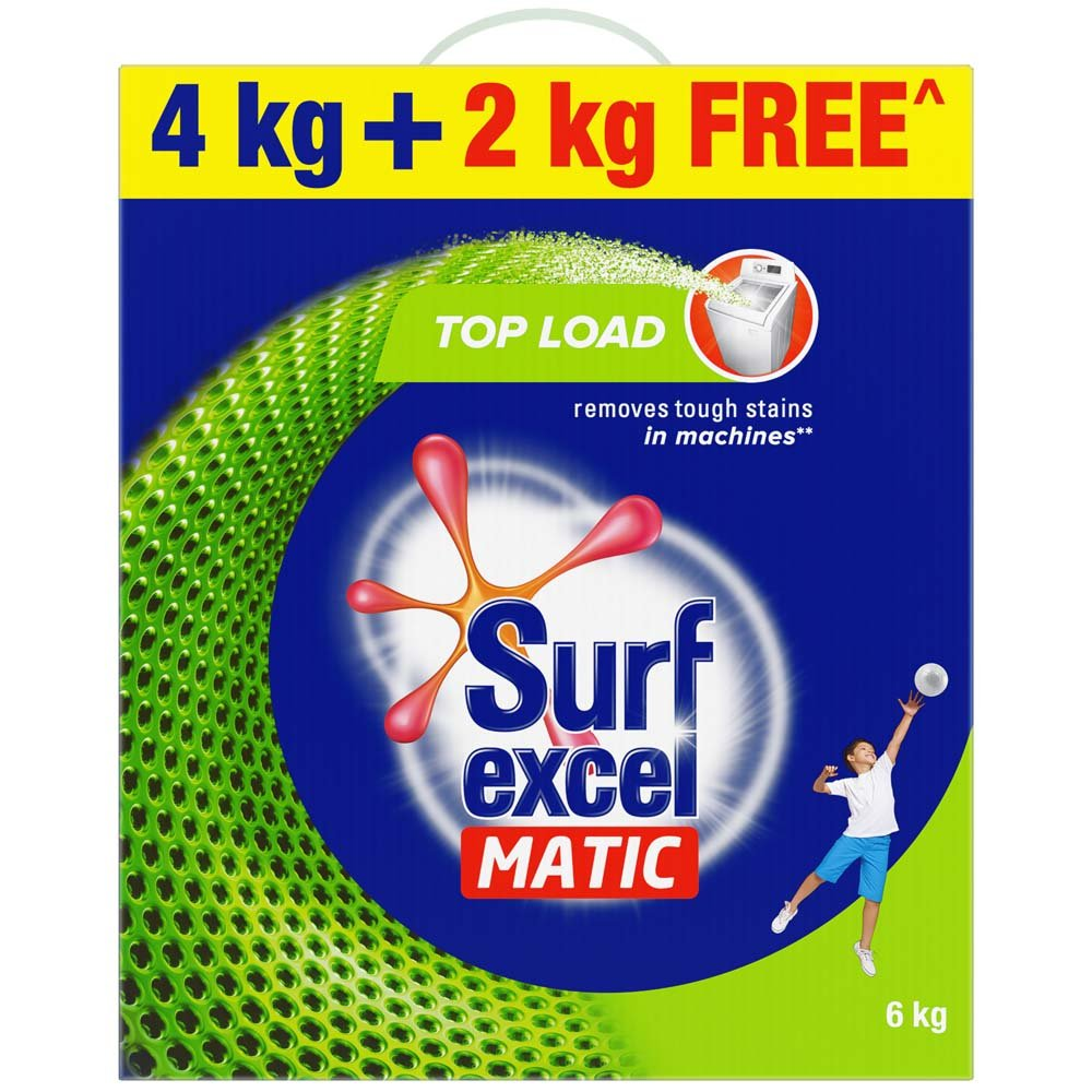 Surf Excel Matic Top Load Detergent Powder - 4 Kg with Free 2 Kg product image