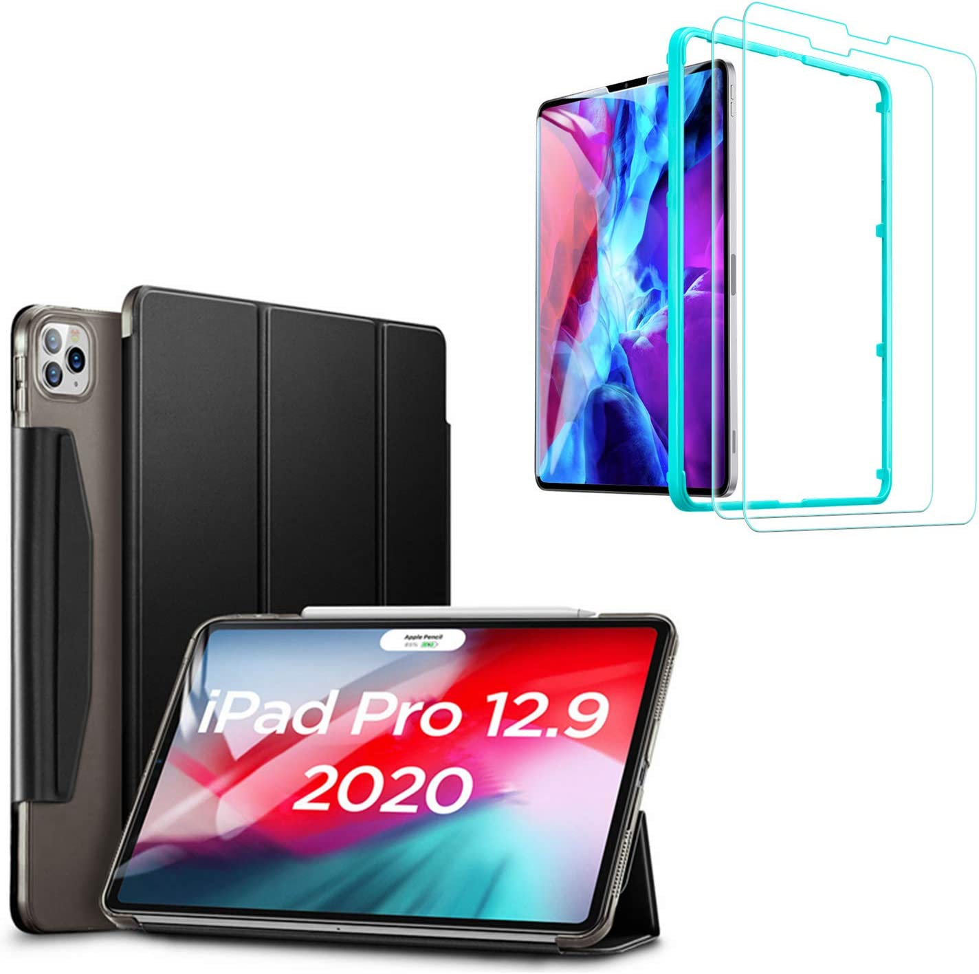 "ESR Yippee Trifold Smart Case + Screen Protector for iPad Pro 12.9"" 2020 & 2018"