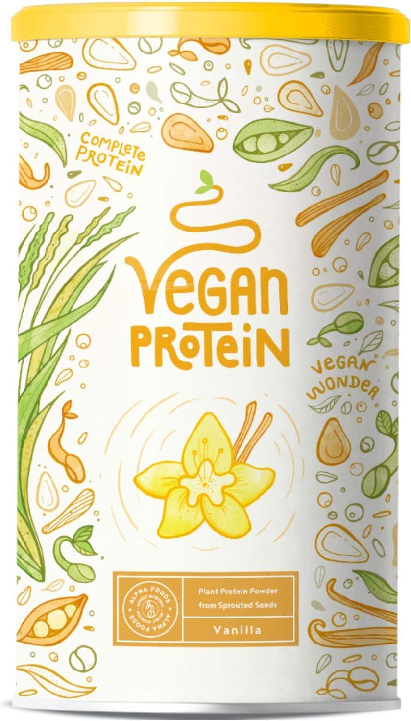 Proteína vegana | VAINILLA | Proteína vegetal de arroz, guisantes, semillas de lino, amaranto, semillas de girasol y semillas de calabaza germinadas | ...