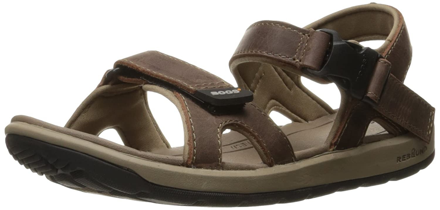 Bogs Women's Rio Leather Athletic Sandal B01KJDBU7Y 9 B(M) US|Dark Brown