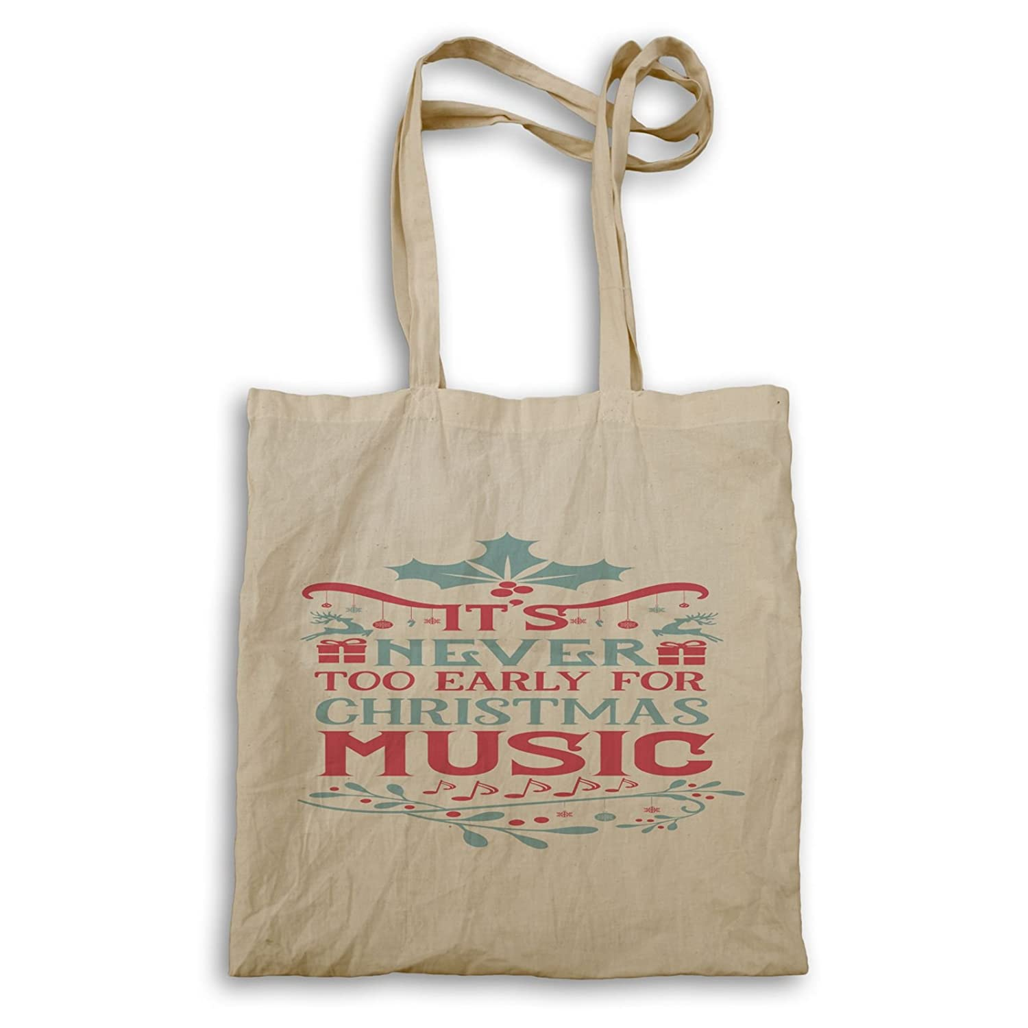 Its Never Too Early For christmas music Tote bag t995r: Amazon.ca ...