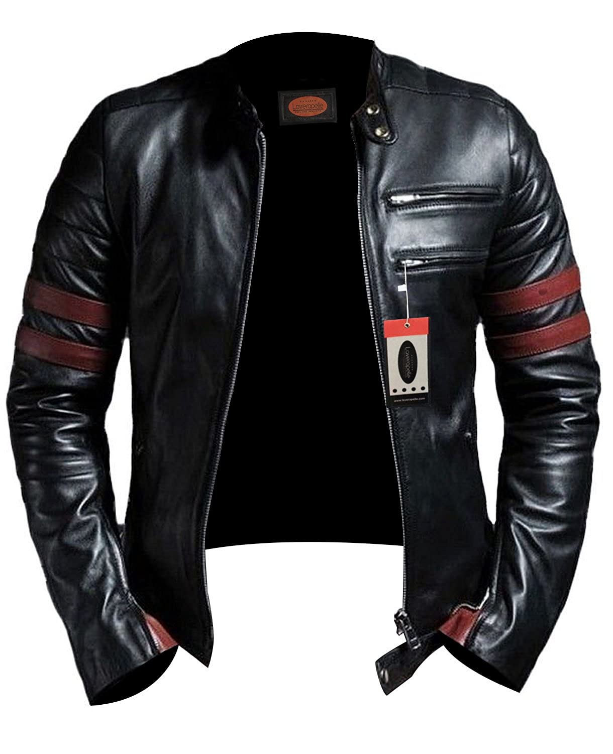 Laverapelle Men's Lambskin Real Leather Jacket Black - 1510535