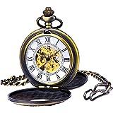 Reloj de Bolsillo Mecánico Zeiger Reloj de bolsillo Steampunk Esqueleto Mecánico Cobre Gusset Estilo Retro Reloj de bolsillo colgante Reloj Gusset Dorado/Plateado/Bronce/Negro