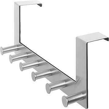 4 Or 6 CHROME HOOK DOOR//WALL MOUNT Silver Metal Coat//Clothes//Hat Hang Porch Peg