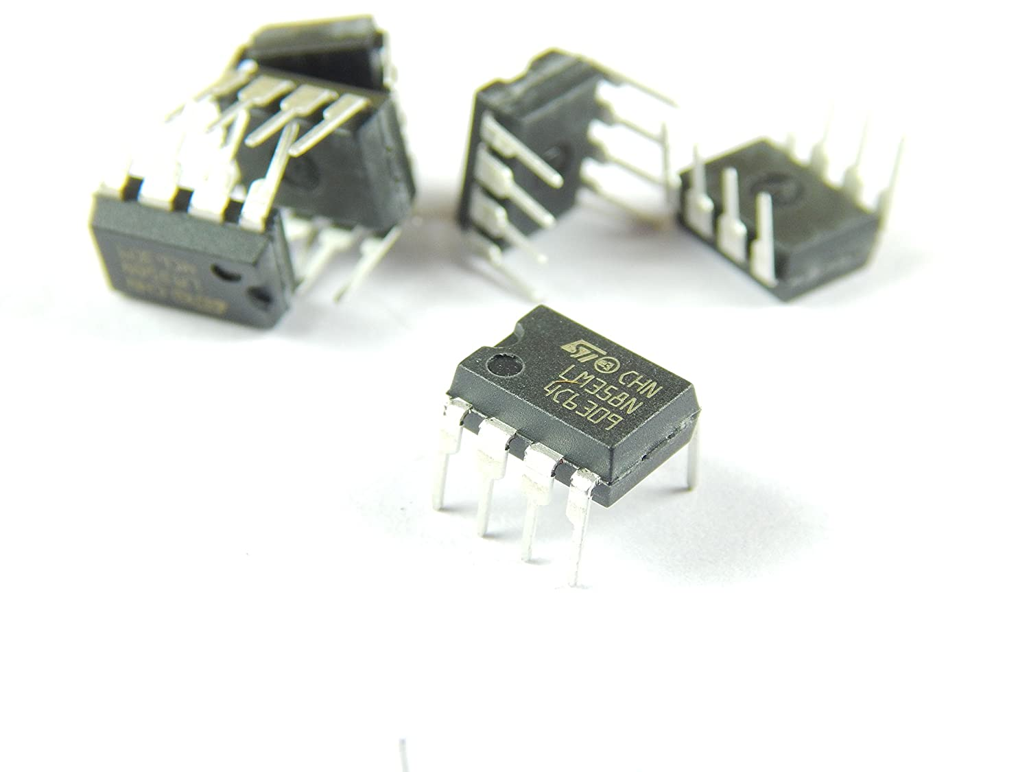 Robo India Ri22 Lm358 Op Amp Dual Operational Amplifier 5 Pieces Power Connections For Opamp Circuit Industrial Scientific