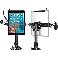 Neewer iPad Tableta Soporte Trípode Montura Adaptador, 16-23,5 Centímetros Abrazadera Pinza Ajustable para iPad Mini iPad 2/3/4, iPad Air/Air2, iPad Pro Microsoft Surface Samsung Tab 7,0 Series