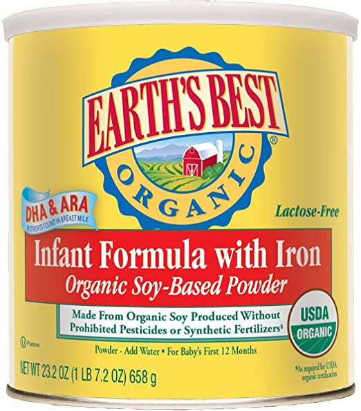 Earth's Best Organic, Soy Infant Formula with Iron