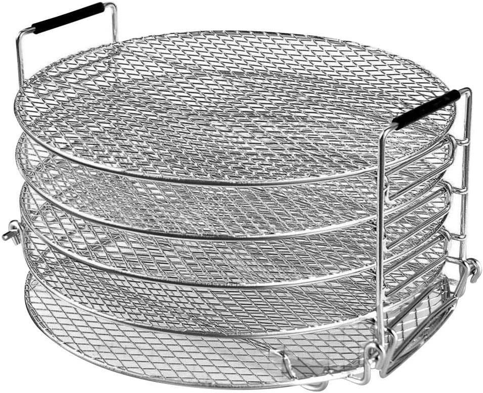 Dehydrator Rack, 5 Tier Stackable Stand, Food Grade Stainless Steel Food Drying Stand, Food Dehydrator Stand For Air Fryer Pressure Cooker