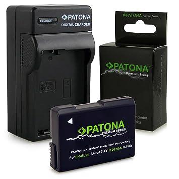 Cargador + Batería EN-EL14 / EN-EL14a para Nikon D3100 | D3200 | D5100 | D5200 | D5300 - Nikon Coolpix P7000 | P7100 | P7700 | P7800 - [ Li-ion; ...