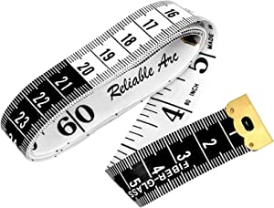 Soft Tape Measure Body Measuring Tape Double Sided for Body Sewing Fabric Tailor Craft Cloth Knitting Weight Loss Measurement 60inch/150cm White