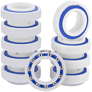 XiKe 10 Pack Wheel Ball Bearings Part Name C60, Replacement for Polaris Pressure Pool Cleaners 180 and 280.