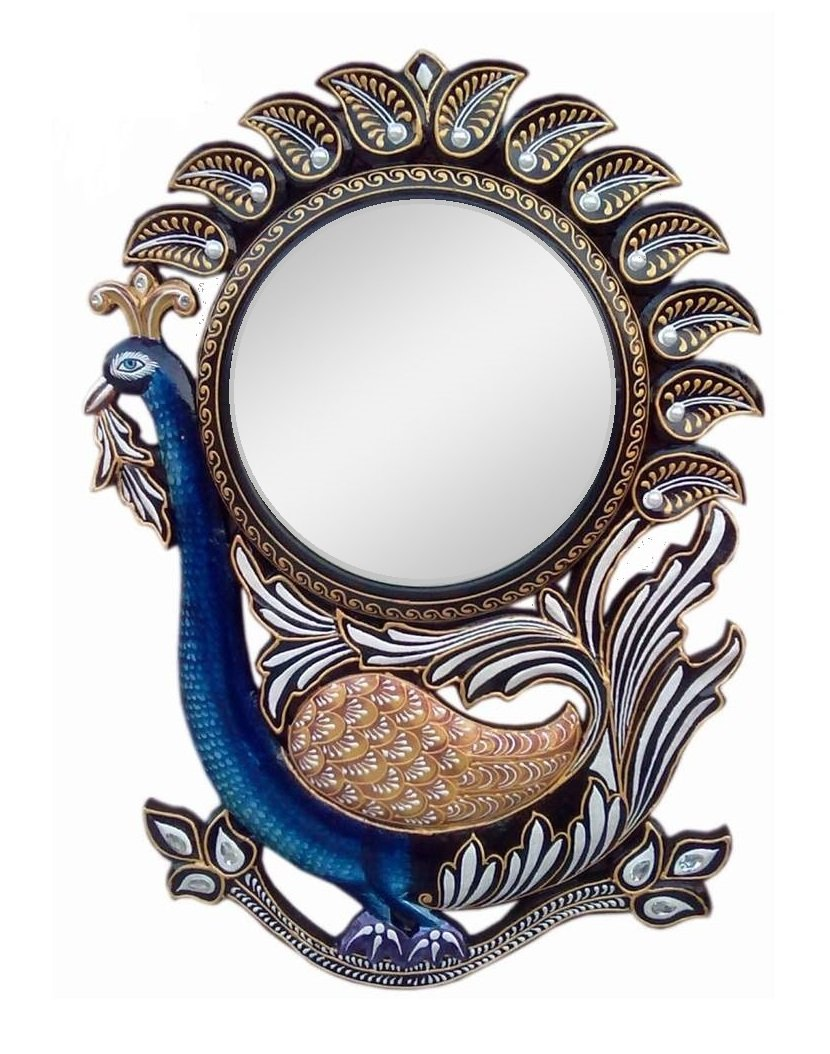 Buy ddass peacock wall mirrorddassmr101 2 online at low prices buy ddass peacock wall mirrorddassmr101 2 online at low prices in india amazon amipublicfo Gallery