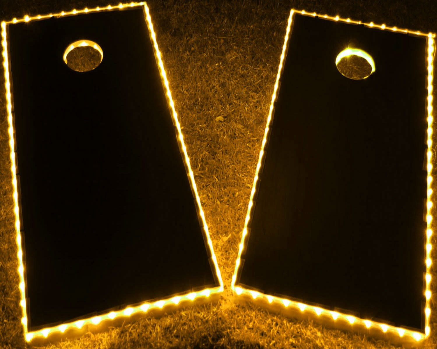 GlowCity LED Cornhole Board Lights - Ultra Bright Lights for Corn Hole and Board, Fits 2 x Boards - Waterproof and Durable Cable Ideal for Family Outdoor Games or Backyard Glow in Dark Fun (Yellow) by GlowCity