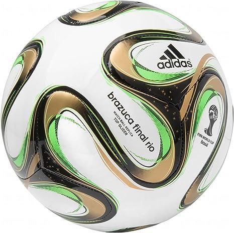 adidas Brazuca 2014 Finals Top Glider - Balón de fútbol, 3, Blanco ...