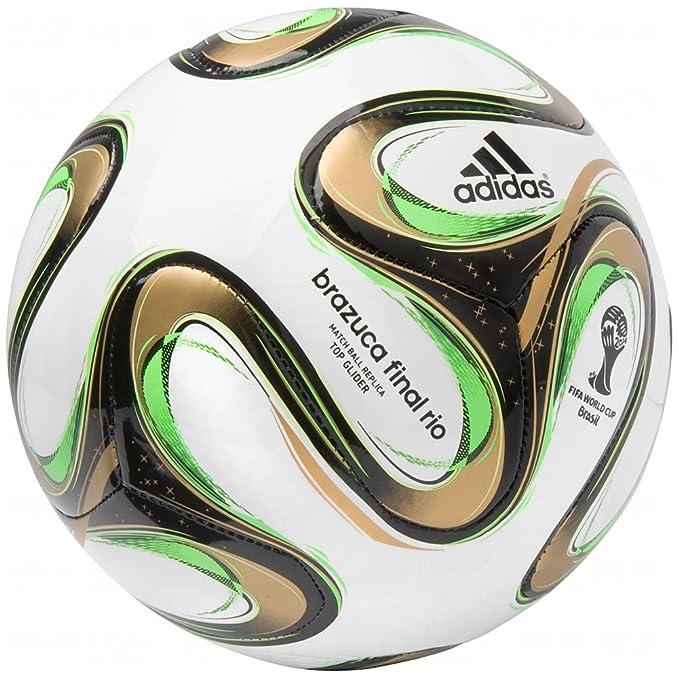 purchase cheap e429e b3385 adidas Brazuca 2014 FIFA World Cup Final Match Top Glider Replica Ball Size  3, Soccer Balls - Amazon Canada