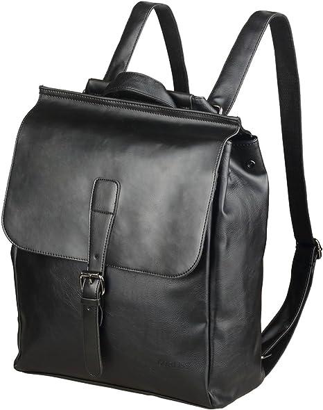 Men Women PU Leather Laptop Backpack Travel Rucksack School Shoulder Bag Satchel