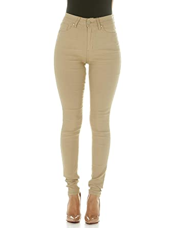 d8928d0bf2e3d High Waisted Ultra Skinny Cigarette Slim Fit Extra Stretch Plus Size Pants Jeans  Size 16W in