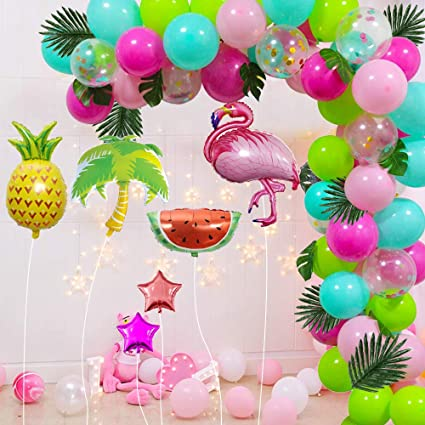 Make your Own Flamingo Balloon Garland Fun Party Decoration