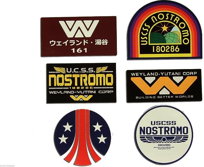 Nostromo Weyland Yutani Corp Sulaco Alien Aliens Aufkleber Set Von 6 Stckers Auto