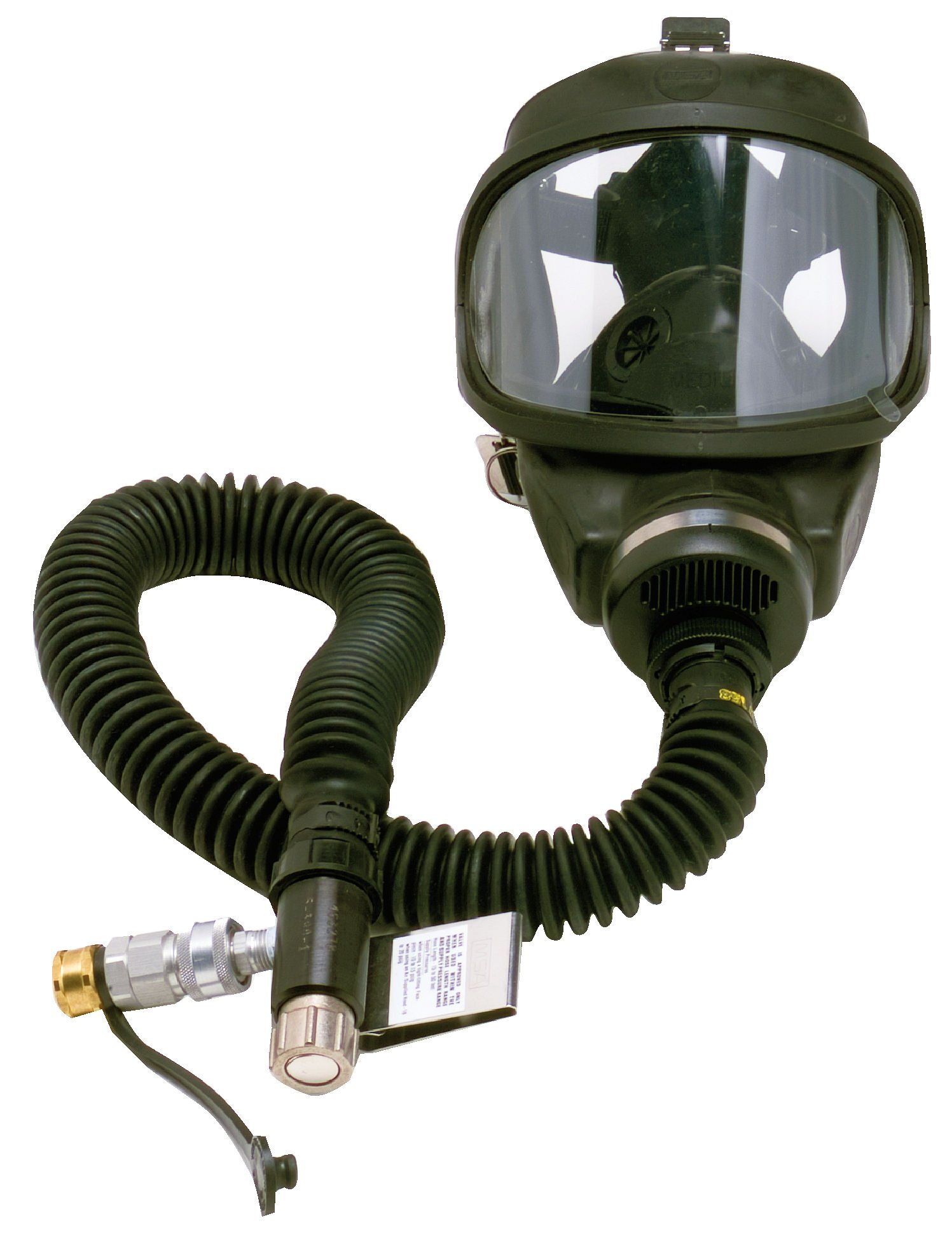 MSA Safety 480472 Constant Flow Air-Line Respirator Complete Assembly with Ultravue Facepiece and Foster Steel Fitting