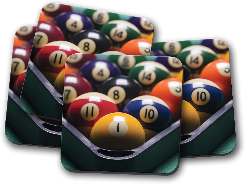 Juego de 4 posavasos de bolas de billar – Snooker Dad Brother Padre Cool Gift #8559: Amazon.es: Hogar