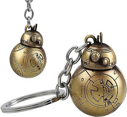 Star Wars Robot BB-8 Rotatable Alloy Key Chains Keychain Keyfob Keyring