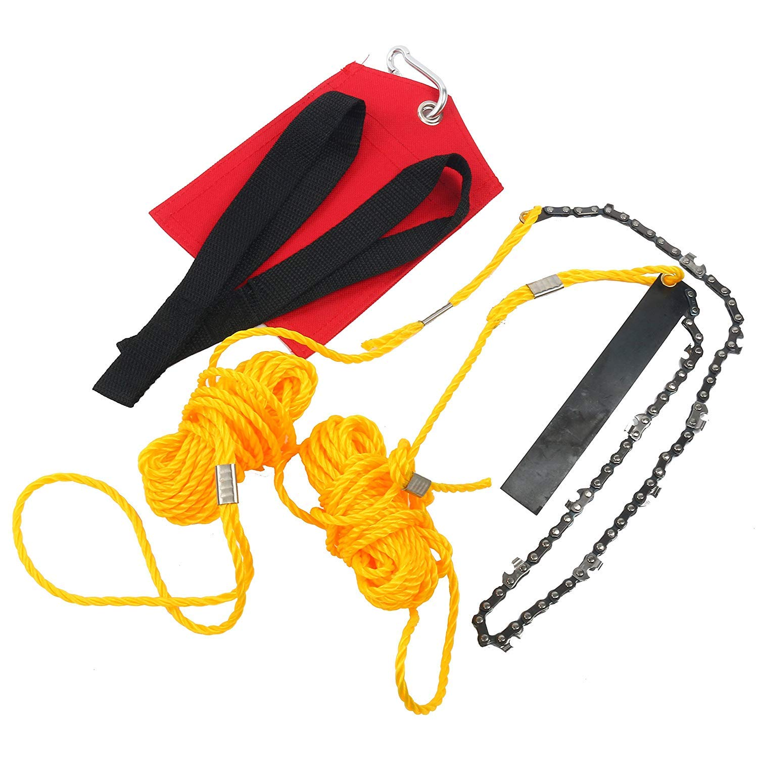 YaeTek Rope-and-Chain Saw - 48 Inch High Reach Limb Hand Chain Saw - Comes with Ropes, Throwing Weight Pouch Bag (48 Inch)