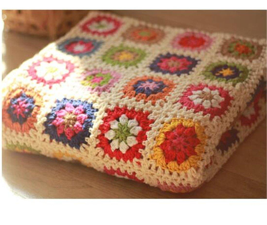 Desconocido Countryside - Manta de Lana nórdica Tejida a Mano para Crochet, Alfombra de Punto, Toalla de sofá, cojín para sofá, Alfombrillas de Suelo, ...