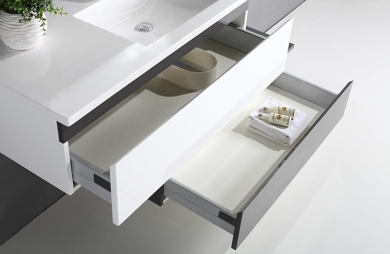 Jindoli Salle De Bain ~ jindoli meuble salle de bain simple vasque 2 tiroirs 90cm d cal s