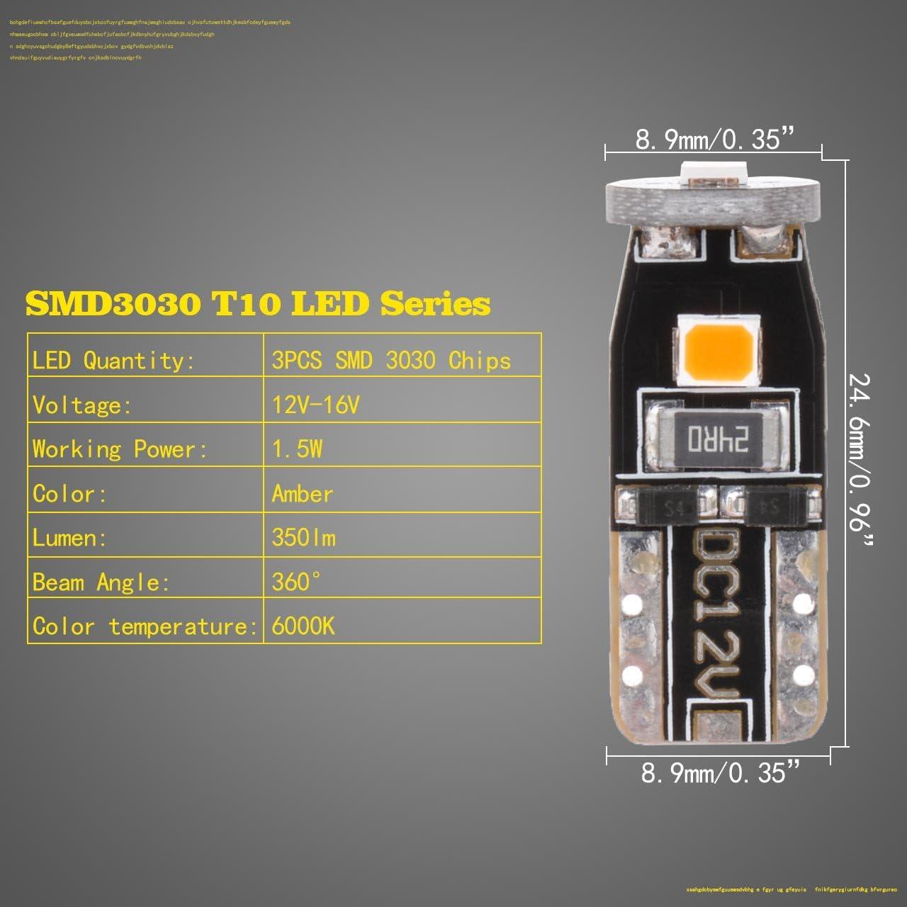 NGCAT 10PCS 450LUMENS Super Luminoso 5630/chipset 6-Ex T10/168/194/2825/175/921/912/lampadine LED Backup luci Tronco Laterali luci 2/W 12/V 6000/K Rosso