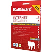 BullGuard Internet Security 2019 for all Windows PC's, Mac and Android Devices - with Free Automatic Latest Updates - 6 Users - 12 Month Licence