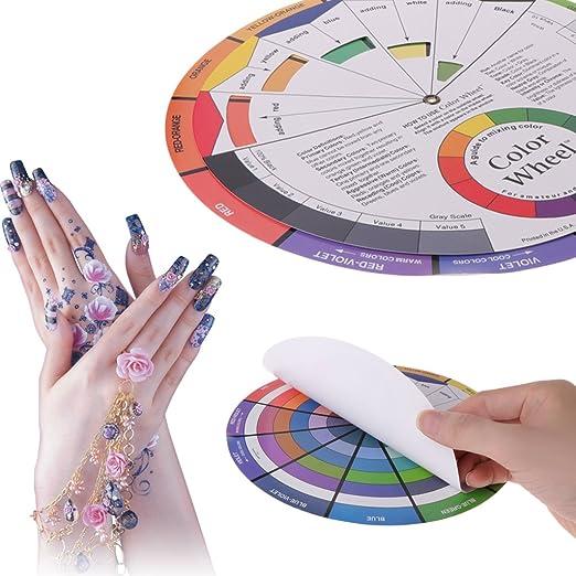 Lunji Disco Círculo cromático 12 Colores para Tatuajes Manicura ...