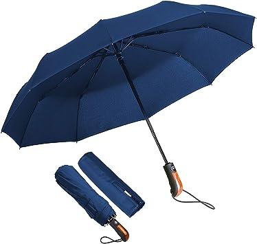 Paraguas Plegable Hombre Paraguas Automático Antiviento, ECHOICE ...