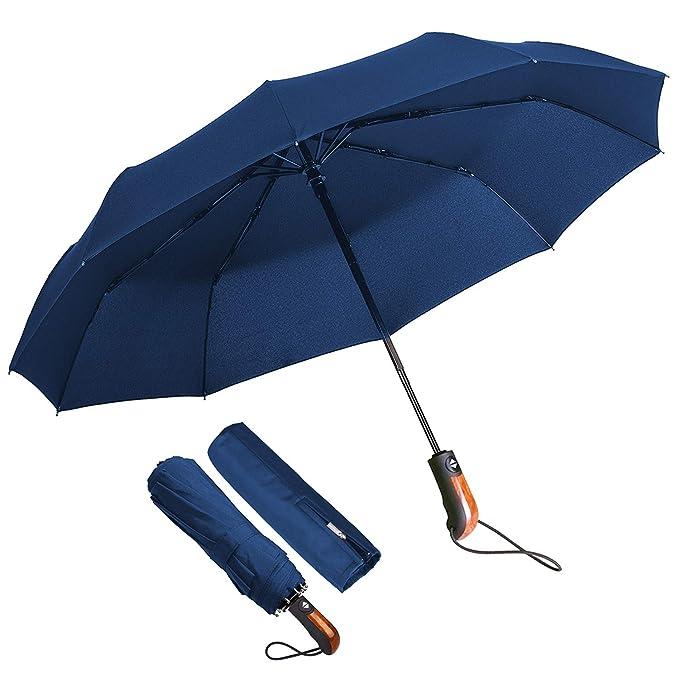 80 opinioni per ECHOICE Ombrello Portatile Automatico Antivento, Ombrello Pieghevole Blu