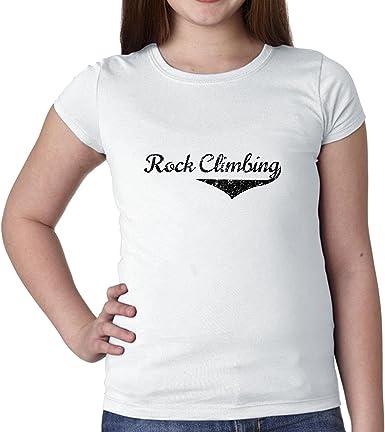 Simple moda Rock escalada gráfico letra niña de algodón ...