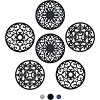 SMARTAKE 6 Set Silicone Trivet Mats, Multi-Use Intricately Carved Coasters, Insulated Non-Slip Durable Kitchen Mats…