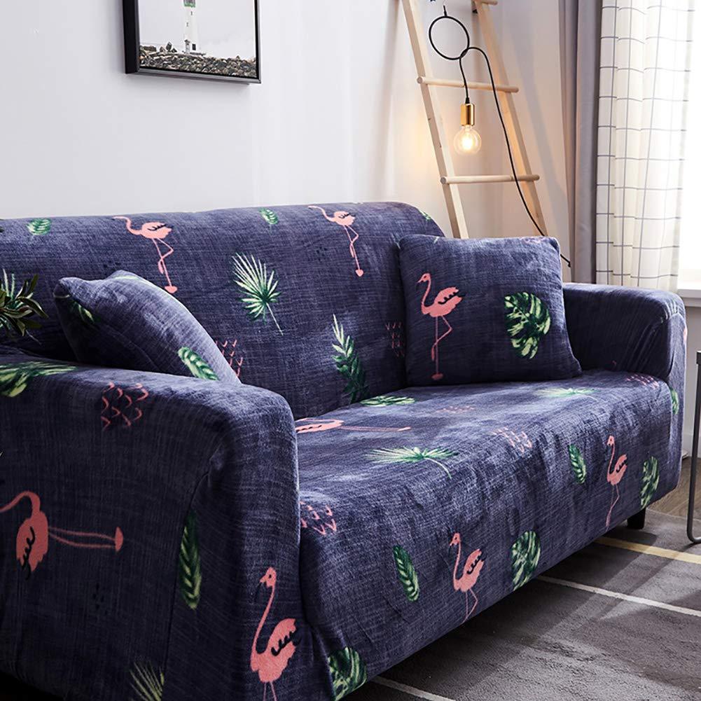 D&LE Funda de sofá Cubre 1 2 3 4 Plazas Color Puro Felpa Protector de sofá Terciopelo Fácil Ajuste elástico Tela Stretch Protector para sofás-K 3 ...