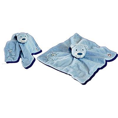 'Doudou bébé Ours Bleu clair également utilisable comme Marionnette