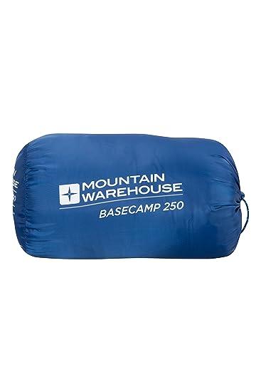 Mountain Warehouse Bolso Durmiente de Basecamp 250 - Bolso Que acampa de la Momia, Adultos Huecos del Aislamiento de la Fibra y Bolso Durmiente de los ...